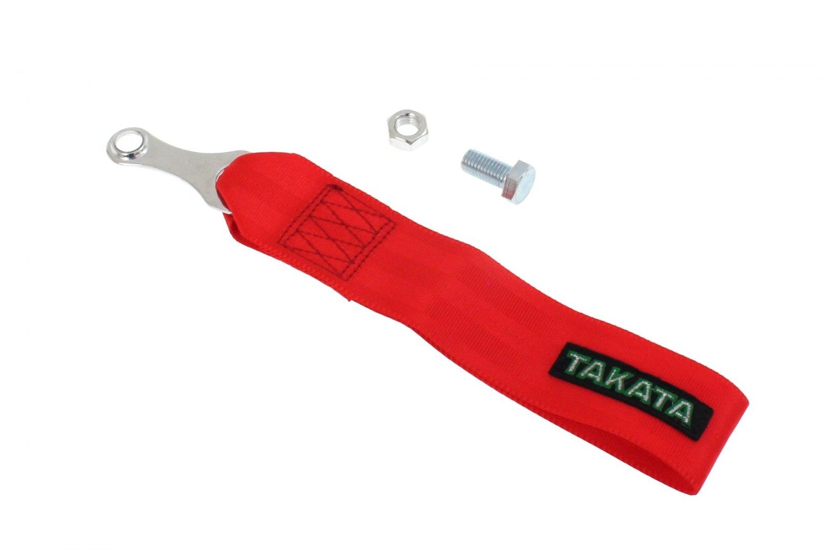 Pas / pętla holownicza (Tow Strap) Takata Czerwony - GRUBYGARAGE - Sklep Tuningowy